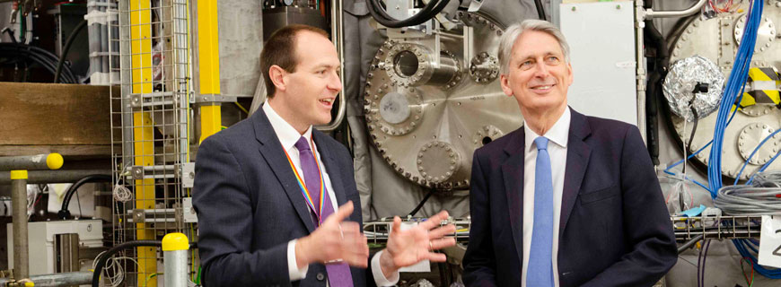 Philip Hammond – Chancellor of the Exchequer – Visits Culham Science Centre