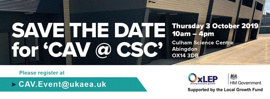 Business Event – CAV@CSC – 3 October 2019